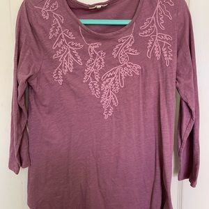 Lucky Brand Maroon L Top